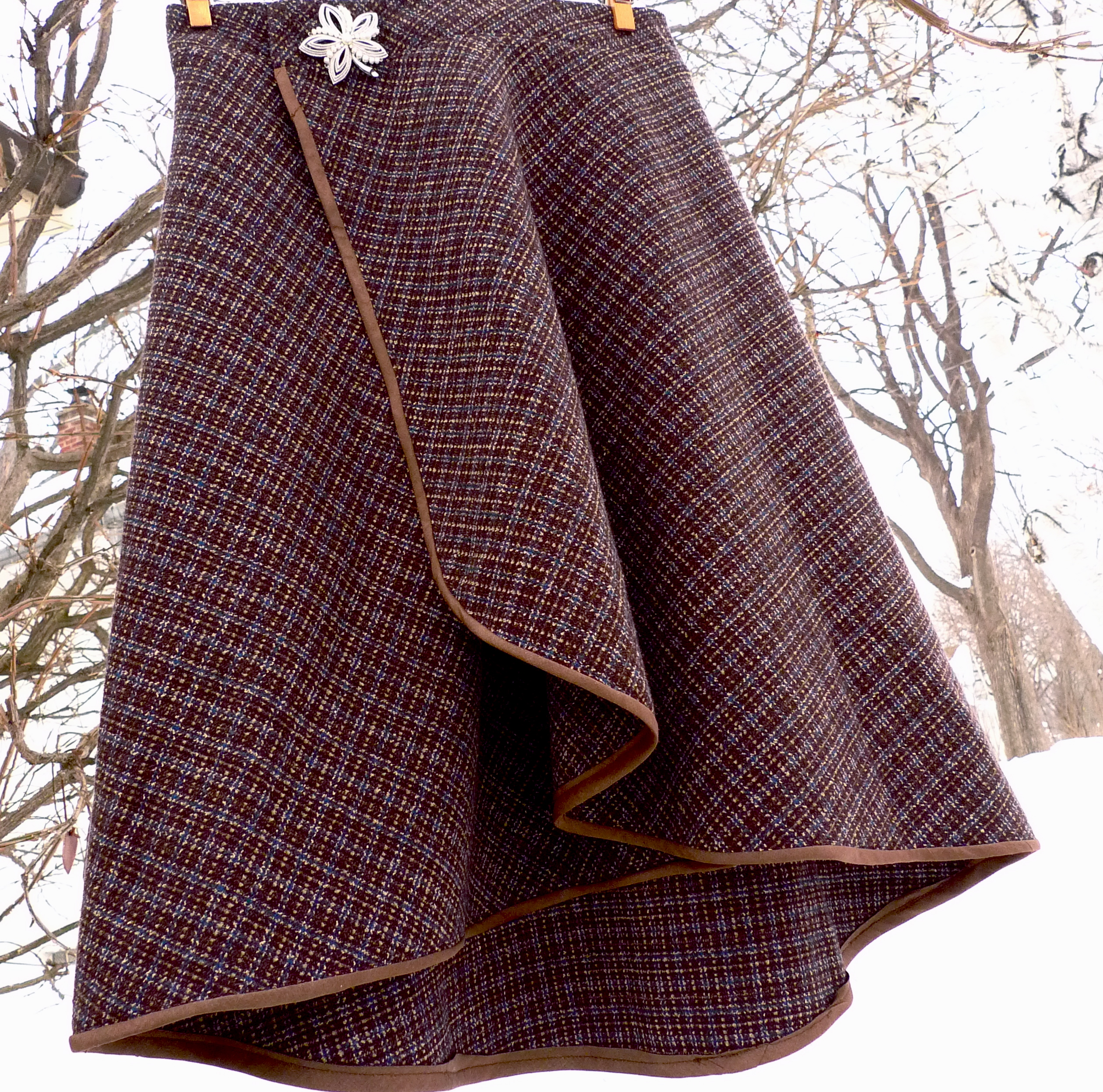 Winter Wool Wrap Skirt Sewing Projects Burdastyle Com