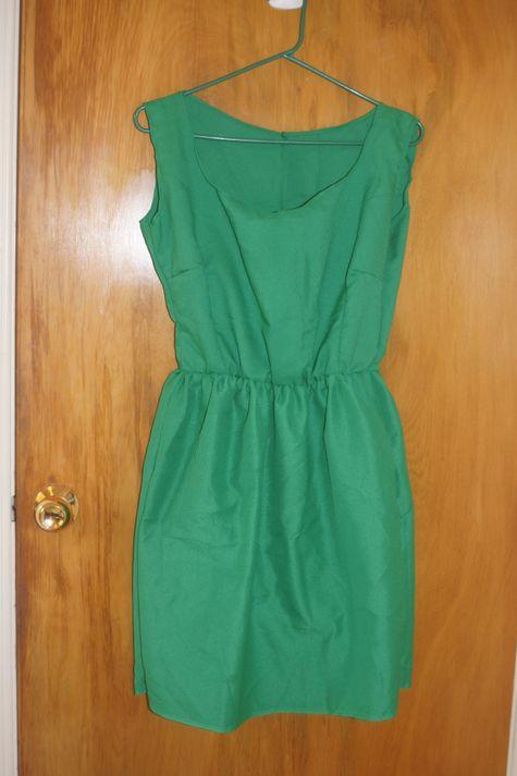 44fea00c4d3 Green elastic-waist dress – Sewing Projects