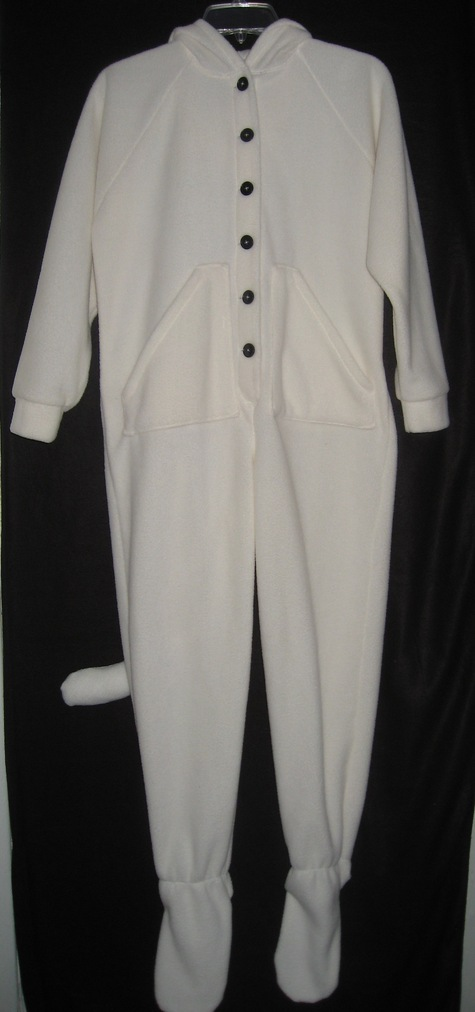 bf487ac800f0 White cat footed pajamas – Sewing Projects