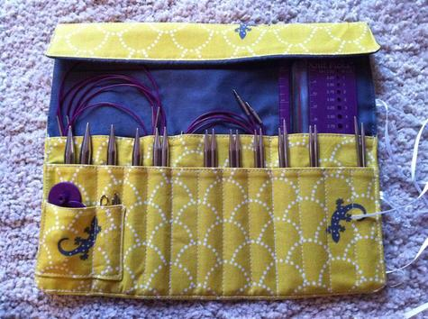 Knitting needle and crochet hook rolls – Sewing Projects ...