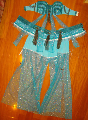 Blue Belly Dance Costume – Sewing Projects | BurdaStyle.com