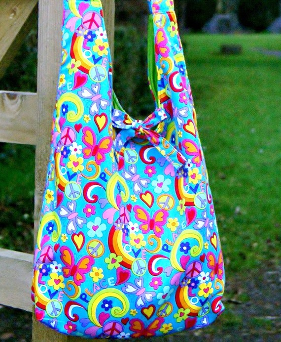 Large Slouchy Hippy Shoulder Bag – Sewing Projects ...