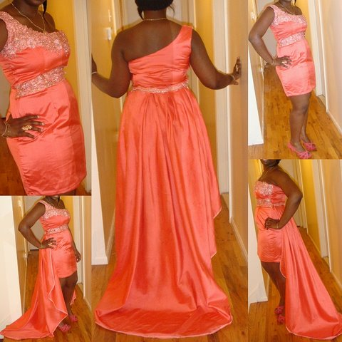 One Shoulder Knit Dress pattern : As a Prom Dress! – Sewing Projects ...