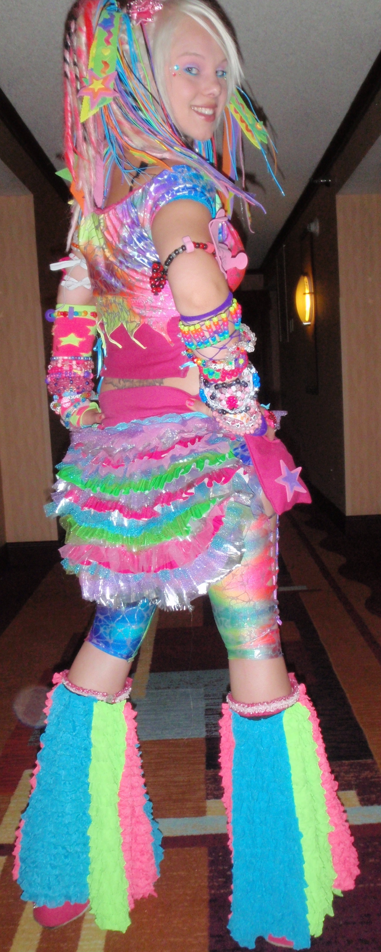 Crazy Colorful Rainbow Circus Pixie Outfit Sewing