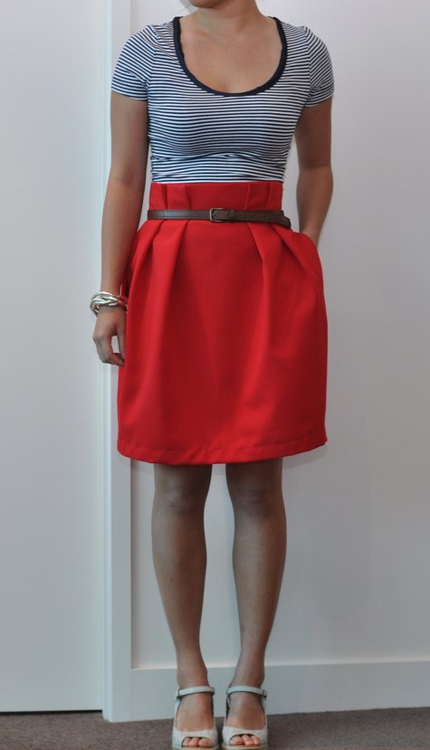 Red Paper Bag Tulip Skirt Sewing Projects Burdastyle