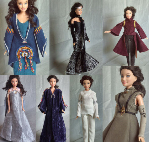 Padme Amidala Star Wars Outfits for Barbie – Sewing Projects ...