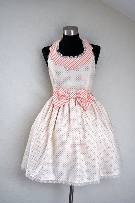 Cream and Pink Scallop Halter Lolita Dress – Sewing Projects ...