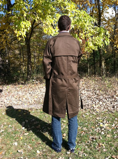 Men's Vogue 40 Trench Coat Sewing Projects BurdaStyle Stunning Mens Trench Coat Pattern