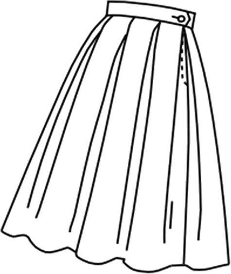 1950's Box pleated skirt