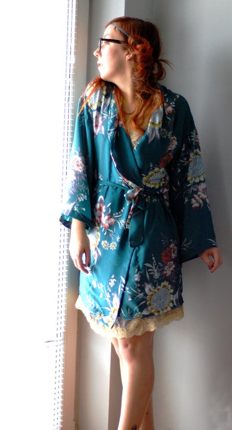 Emerald Kimono Robe Sewing Projects Burdastyle