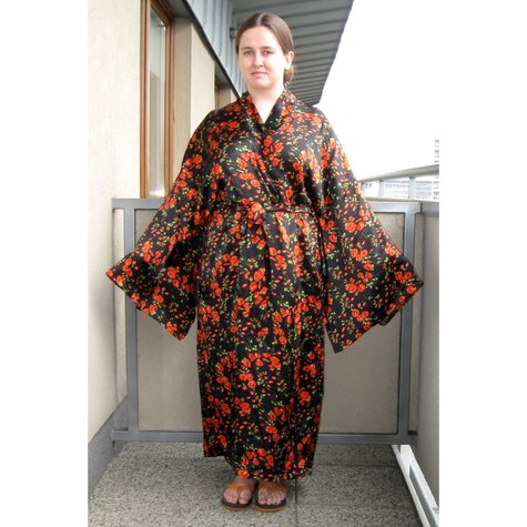 Elfkas Silk Kimono Robe Sewing Projects Burdastyle
