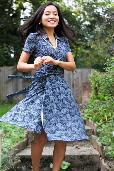 Midnight Blue Wrap Dress Sewing Projects Burdastyle