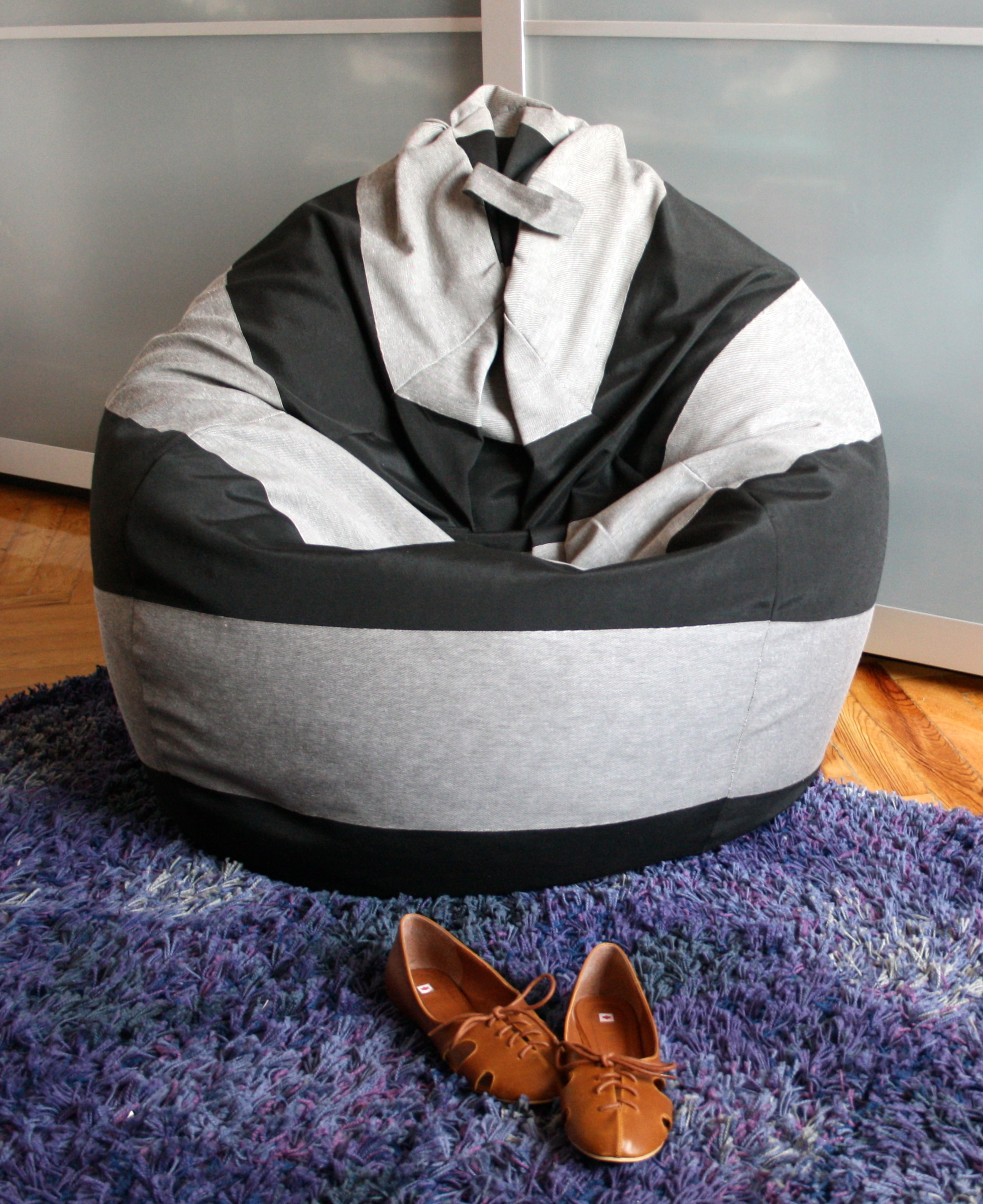 Striped Bean Bag Chair Sewing Projects Burdastyle Com