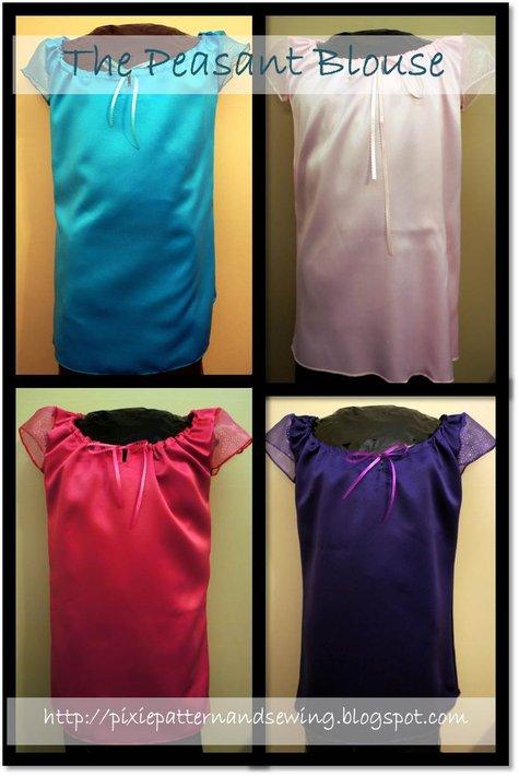 M4548_mc_calls_early_american_pilgrim_costume_peasant_blouse_chemise_pantaloons_pixie_pattern_and_sewing_teal_turquoise_light_pink_dark_fuschia_purple_plum_large