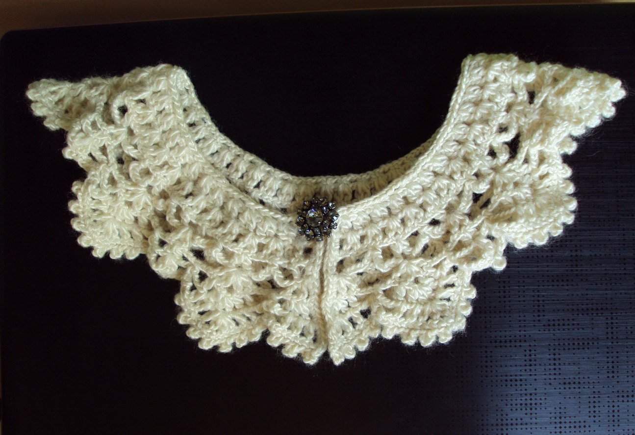 Romantic Crochet Collar – Sewing Projects | BurdaStyle.com