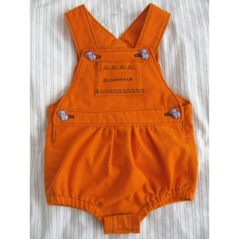 Orange baby dungarees – Sewing Projects | BurdaStyle.com