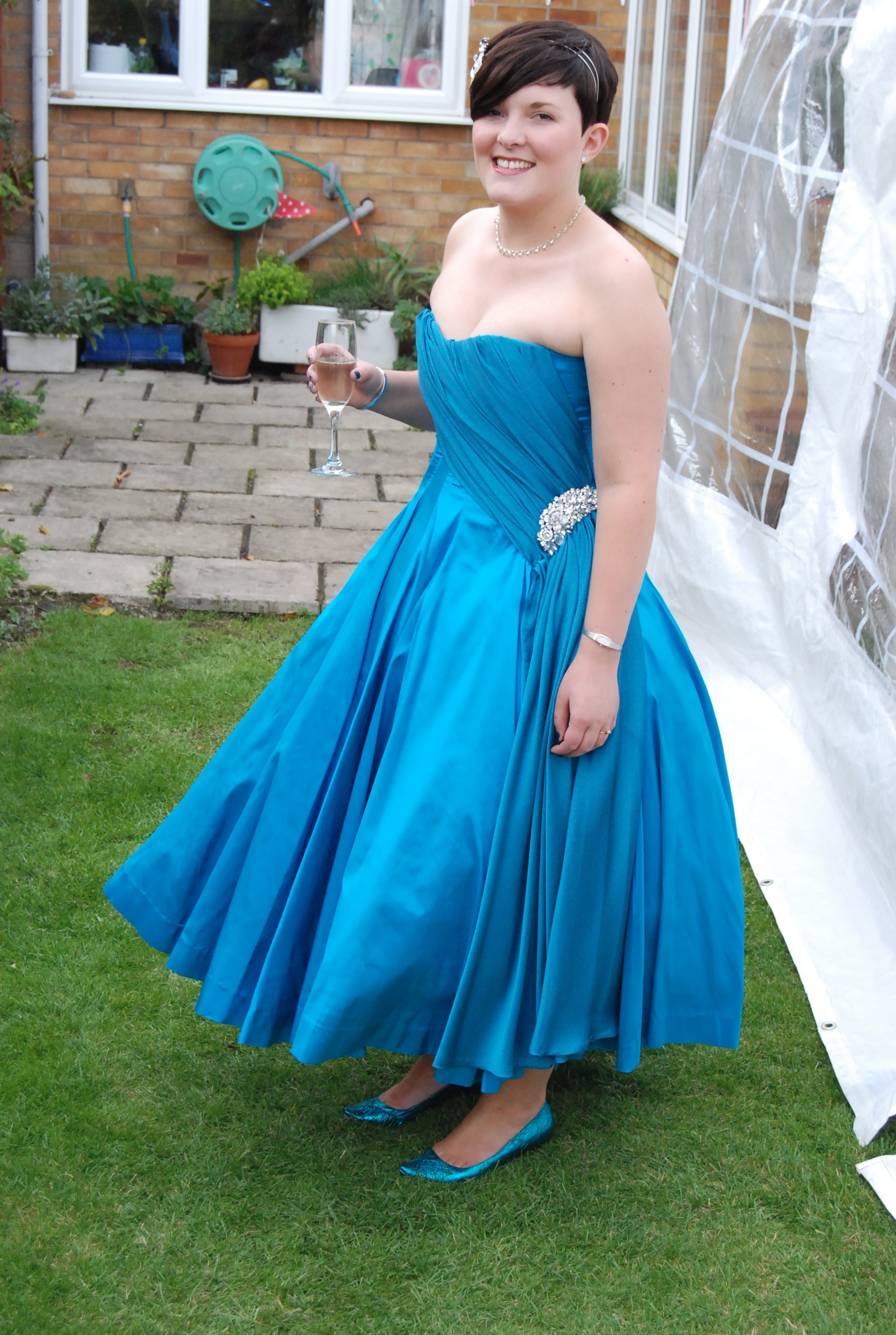 Peacock Blue 50s Wedding Dress Sewing Projects