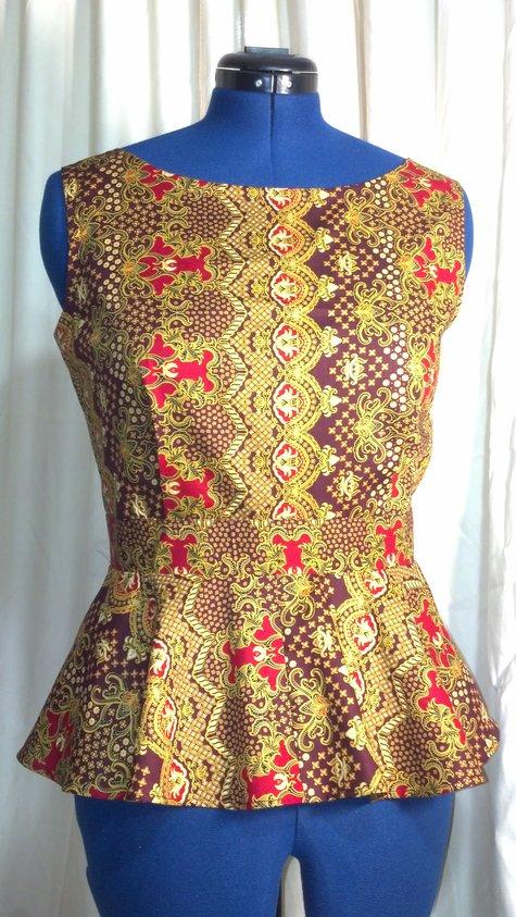 Batik Peplum Top – Sewing Projects | BurdaStyle.com
