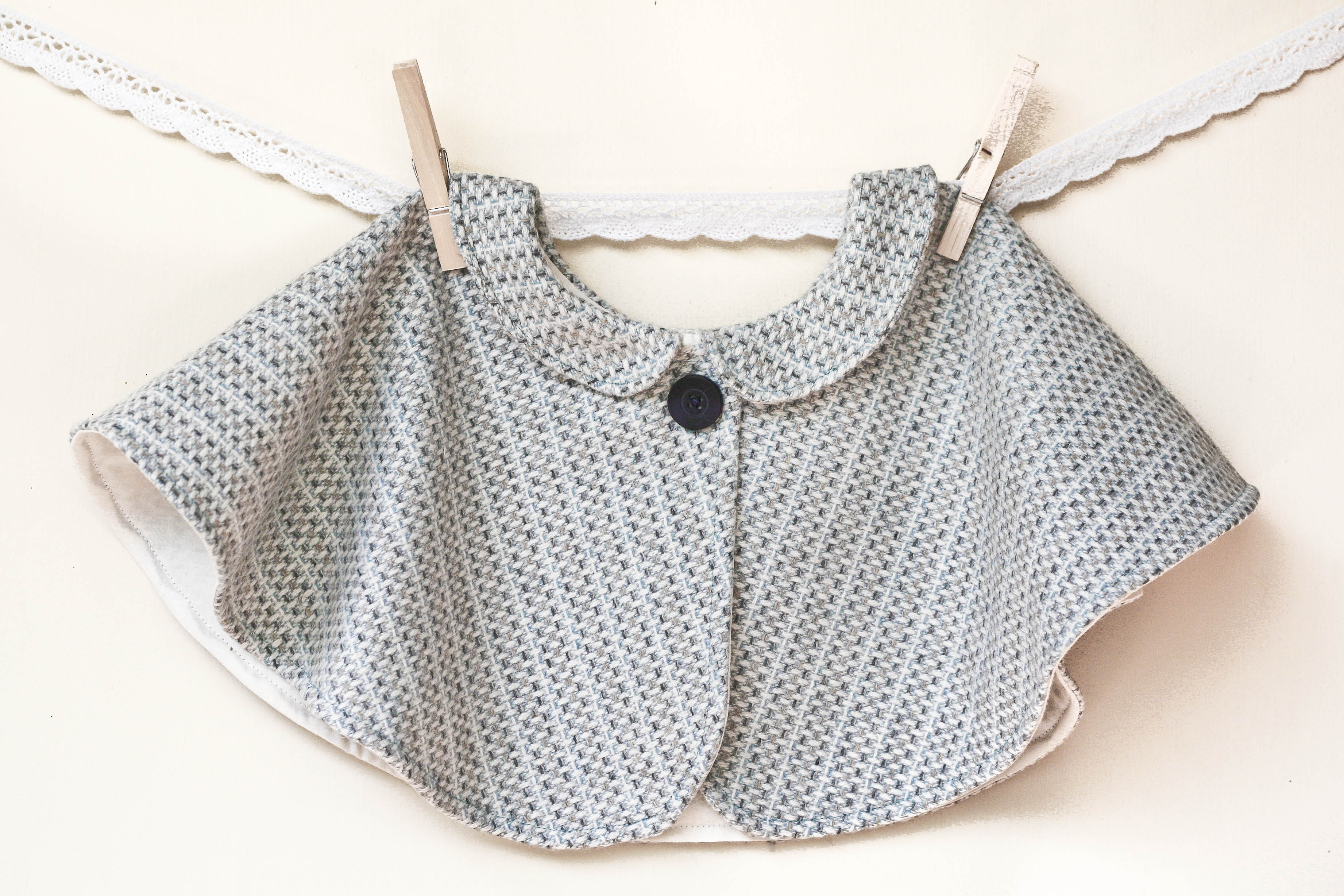 Toddler Vintage Style Tweed Capelet Sewing Projects