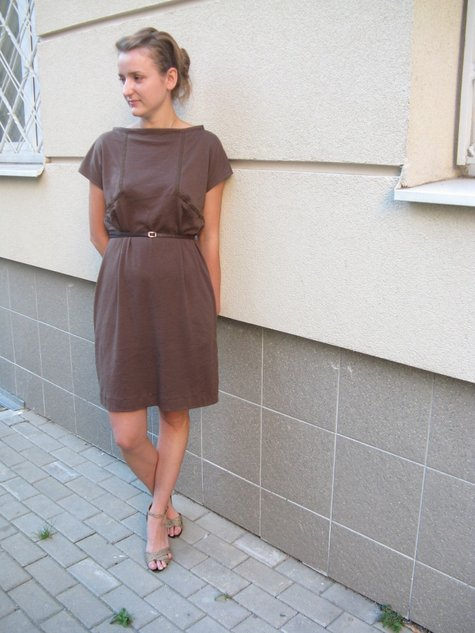27a2277197 Casual and comfy brown dress – Sewing Projects