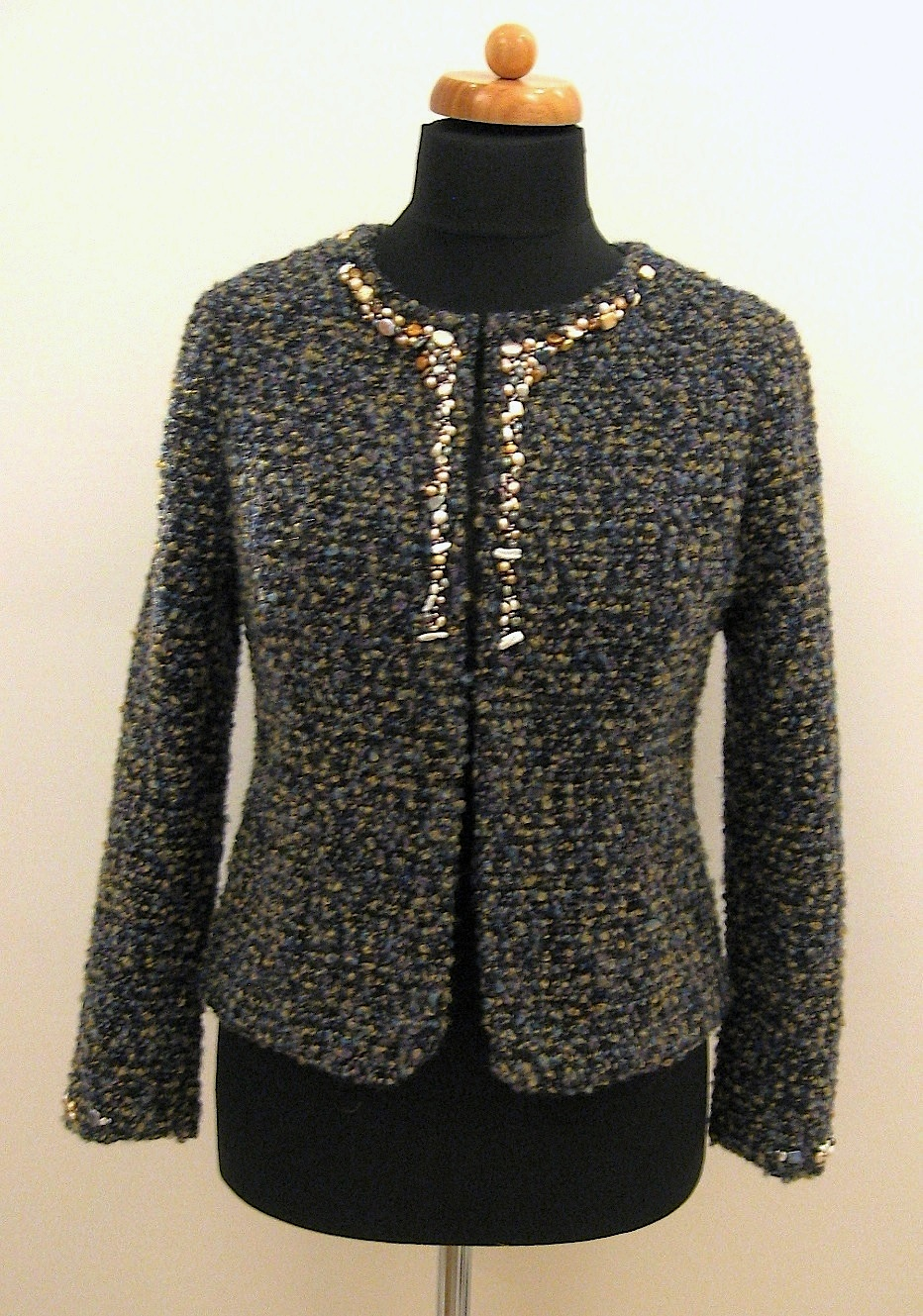 French Style Jacket With Pearl Trims Sewing Projects