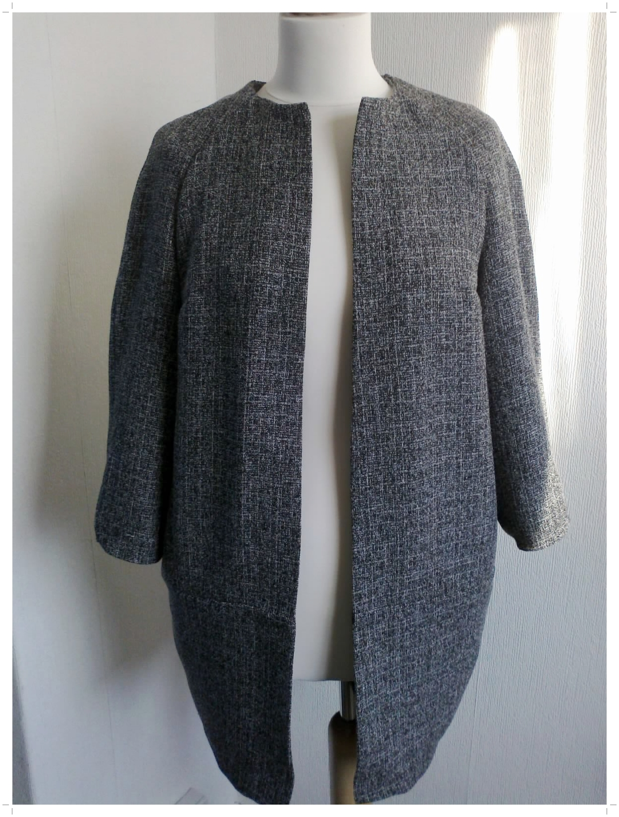 Tweed Cocoon Coat Fully Lined Sewing Projects