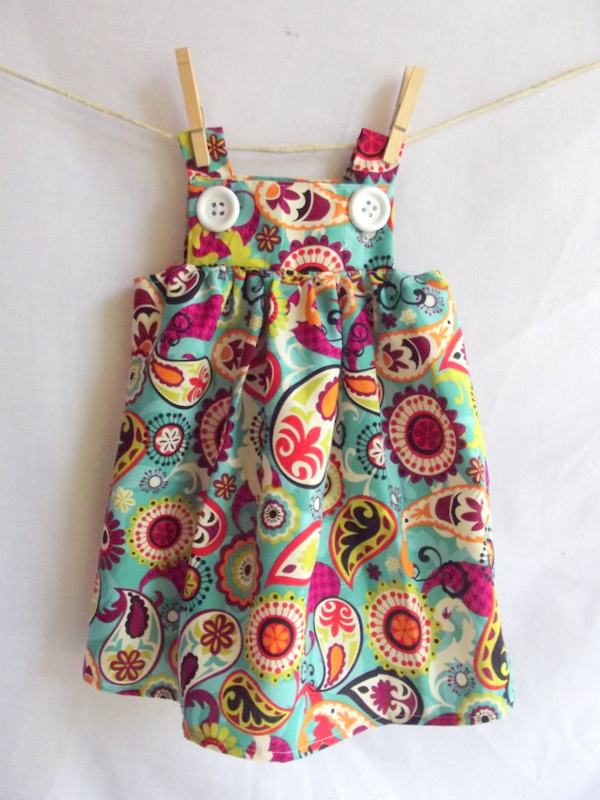 Button Baby Dress – Sewing Projects   BurdaStyle.com