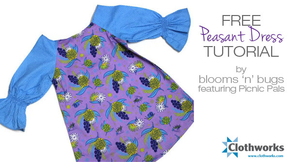 Peasant Dress Pdf Pattern And Tutorial Sewing Projects