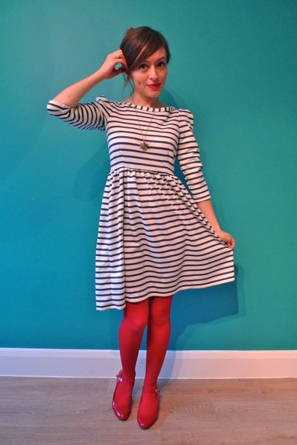 Nautical Knit Dress – Sewing Projects | BurdaStyle.com