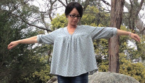 Japanese Sewing Pattern Marle Polka Top Sewing Projects