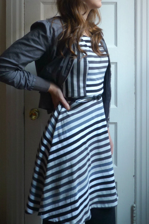 Stripey Jersey Dress Sewing Projects Burdastyle