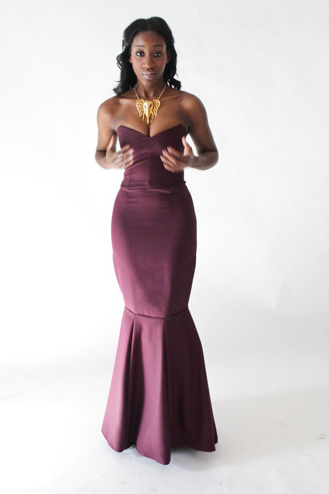 Plum Mermaid Gown – Sewing Projects | BurdaStyle.com