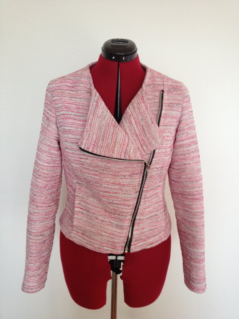 Boucle Biker Jacket Sewing Projects Burdastyle Com