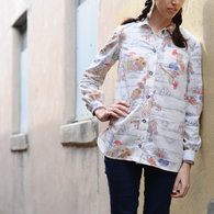 Wearing_handmade_blouse_-_blue_armadillo_1_listing