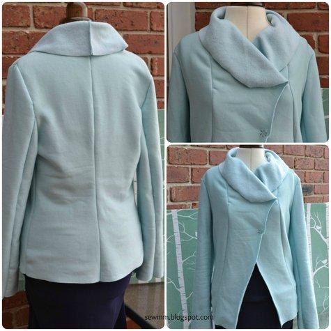Duck Egg Blue Fleece Jacket Sewing Projects Burdastyle