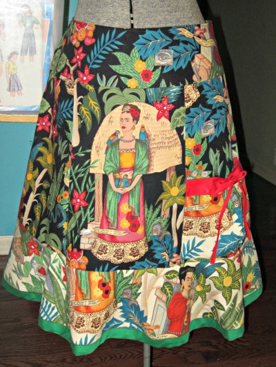 Frida Kahlo Skirt Sewing Projects Burdastyle Com