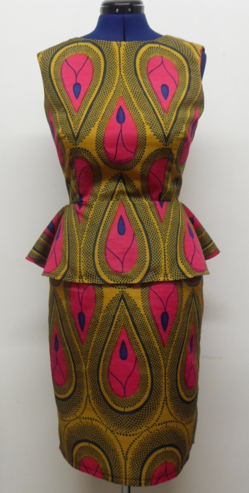 African Print Tear Drop Peplum Dress Sewing Projects BurdaStyle Delectable African Dress Patterns For Sewing