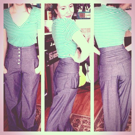 Wide Leg High Waisted Pants Sewing Projects Burdastyle