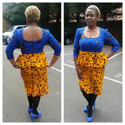 Ankara Peplum Dress Sewing Projects Burdastylecom