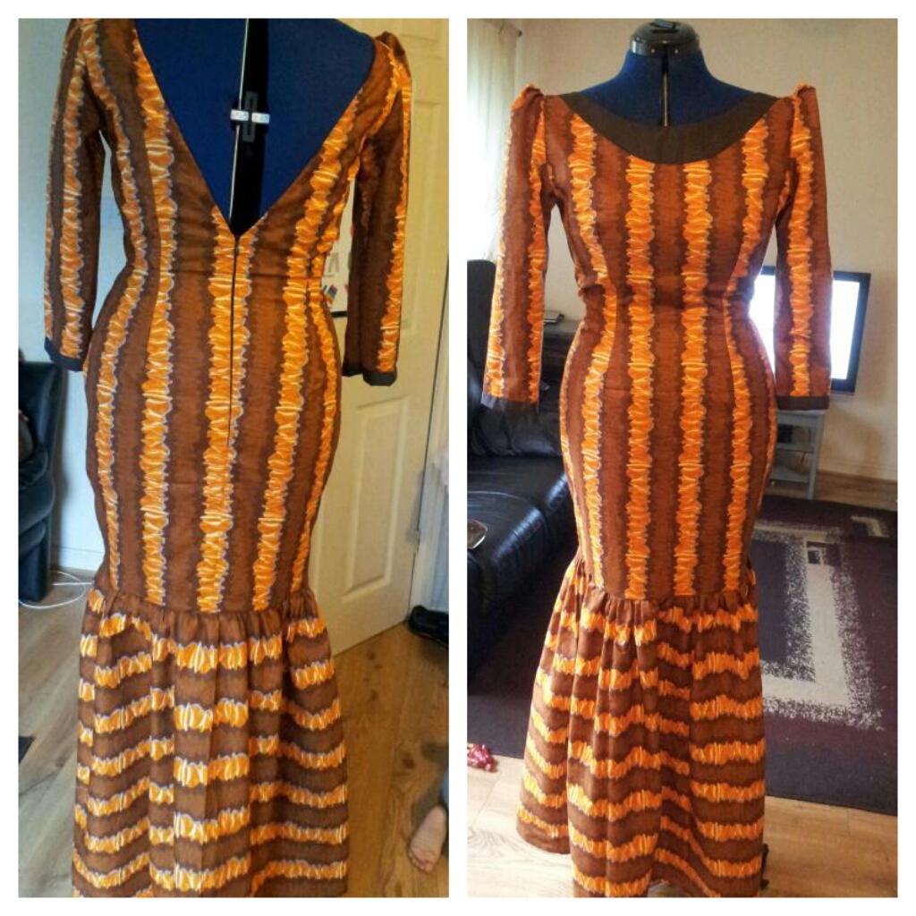 Ankara Evening Gown Sewing Projects Burdastylecom