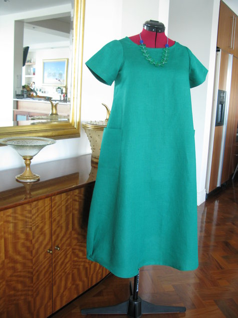 c9761b9dc1 Green Tessuti Lily Linen Dress – Sewing Projects