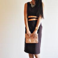 Chocolate_brown_midriff_cutout_midi_dress_by_vivat_veritas1_listing