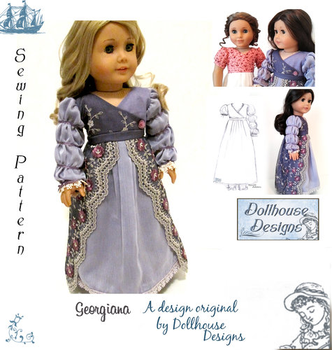 Regency Dress Pattern For American Girl Doll By DOLLHOUSE DESIGNS Fascinating American Girl Patterns