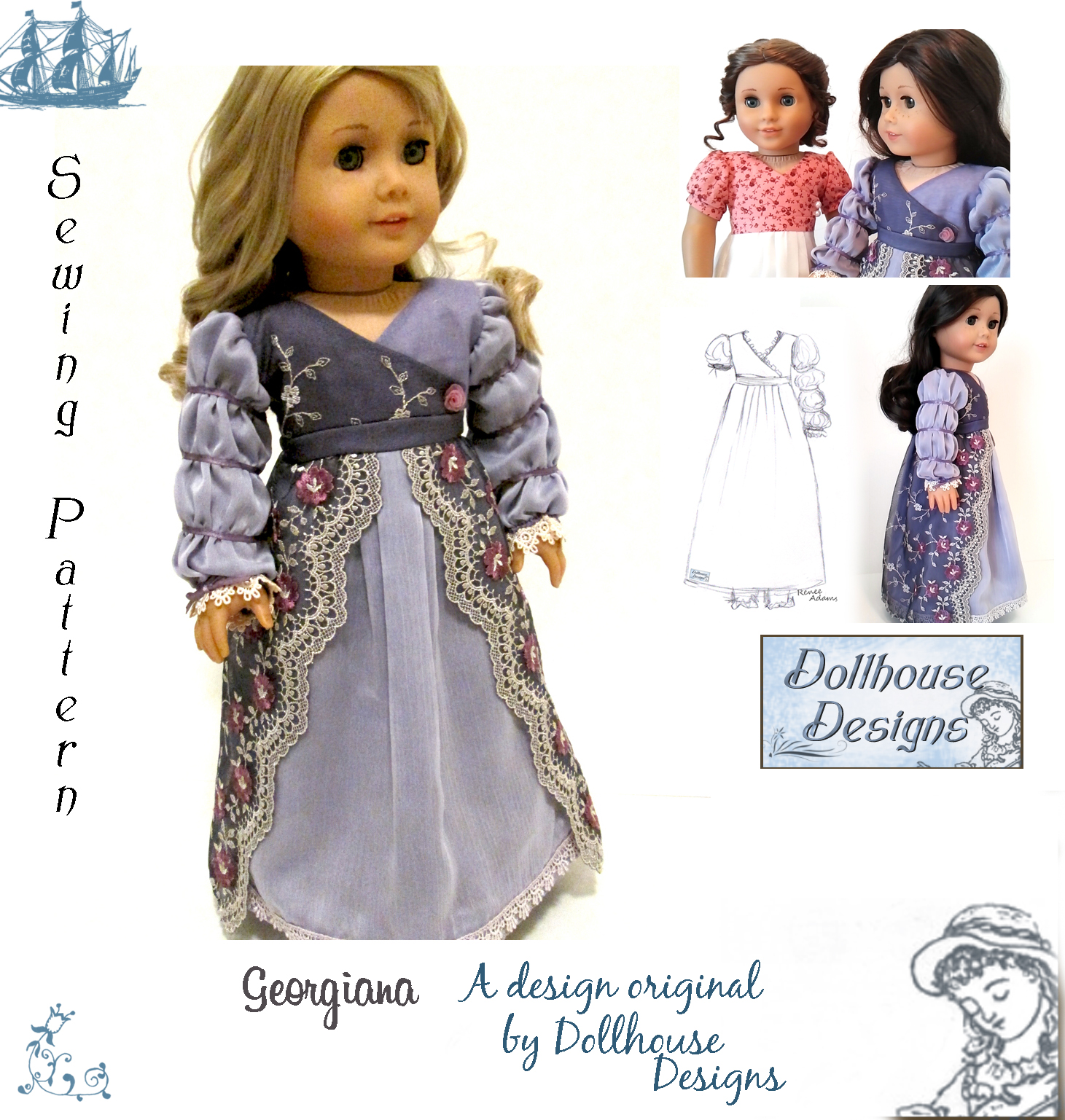 Buy Girl American doll dress patterns pictures picture trends