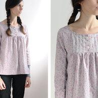Grey_gathered_blouse_japanese_pattern_listing