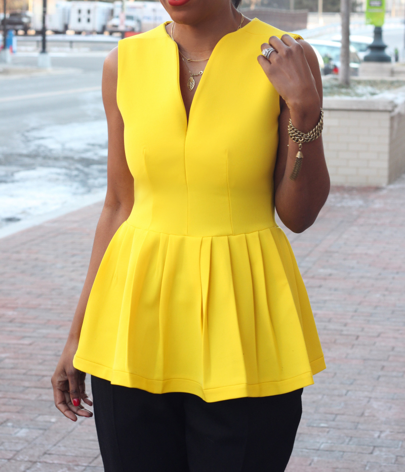 Lemon Peplum Top Sewing Projects Burdastyle Com