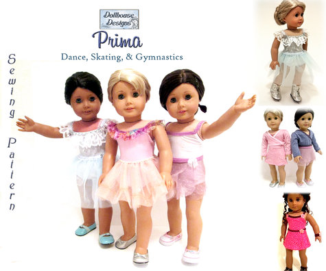 Prima Dance Sewing Pattern by Dollhouse Designs for 18\
