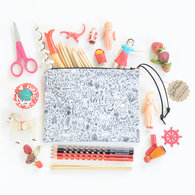 Doodletown_original_fabric_pouch_6_square_with_stuff_listing
