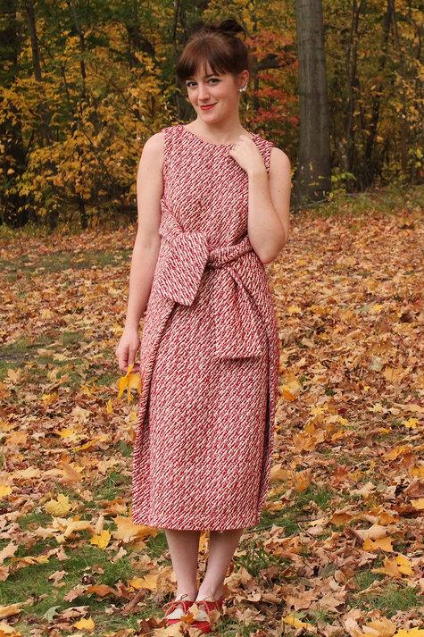 Wool Kielo Wrap Dress Fall 2014 Sewing Projects Burdastyle Com