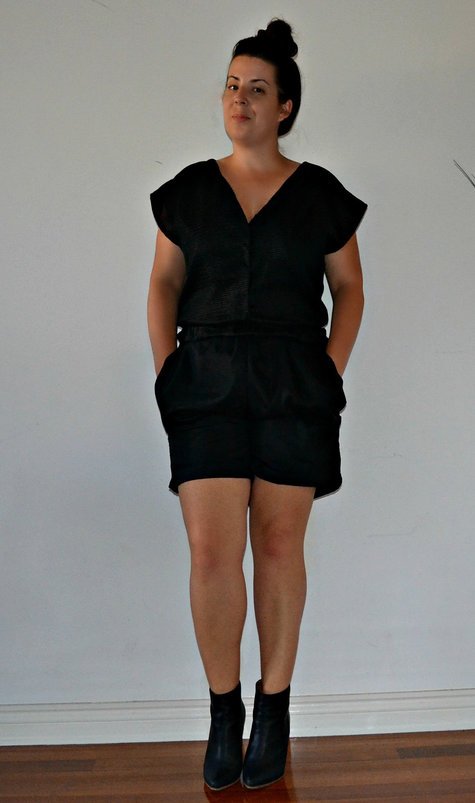 Salme Patterns black mesh playsuit – Sewing Projects | BurdaStyle.com